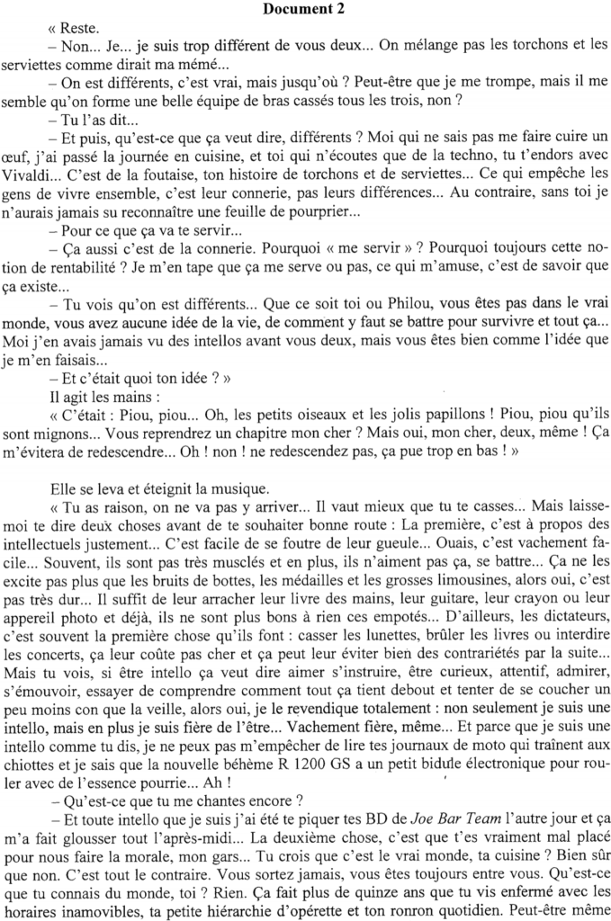 exemple de synthèse de document rédigé